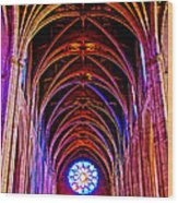 Archway In Grace Cathedral In San Francisco-california Wood Print