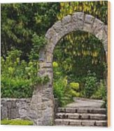 Archway To The Secret Garden Wood Print