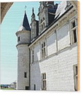 Archway View Chateau Amboise Wood Print