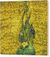 Arcimboldo Vegetable Heart Wood Print