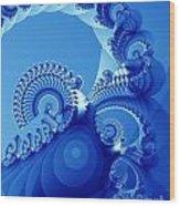 Arctic Blue Wood Print
