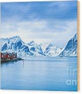 Arctic Dawn Lofoten Islands Wood Print