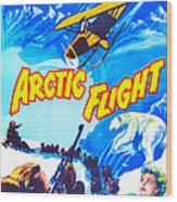 Arctic Flight, Us Poster, From Left Wood Print