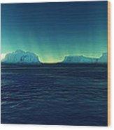Arctic Lights Wood Print