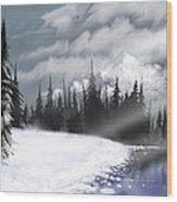 Arctic Morning Wood Print