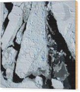 Arctic Sea Ice At Lowest Maximum Wood Print