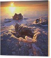 Arctic Sunrise Wood Print