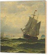 Arctic Whalers Homeward Bound Wood Print
