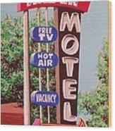 Arden Motel Wood Print