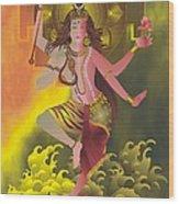 Ardhanareeswara  Wood Print