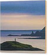 Ardtreck Point Lighthouse Wood Print