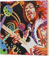 Jimi Hendrix Are You Experienced Wood Print