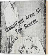Area 51 Declassified Wood Print
