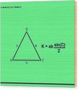 Area Of An Isosceles Triangle Green/black Wood Print
