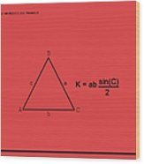 Area Of An Isosceles Triangle Red/black Wood Print