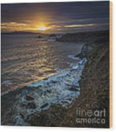 Ares Estuary Mouth Galicia Spain Wood Print