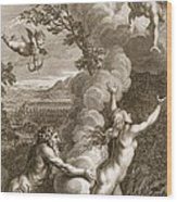 Arethusa Pursued By Alpheus And Turned Wood Print