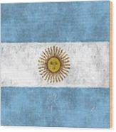 Argentina Flag Wood Print