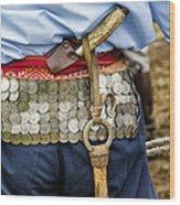 Argentina Gaucho Coin Belt Wood Print