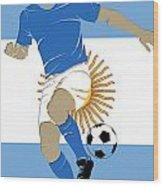 Argentina Soccer Player2 Wood Print
