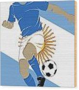 Argentina Soccer Player3 Wood Print
