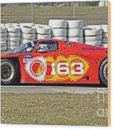 Argo Mazda Gtp Race Car At Sebring Raceway Wood Print
