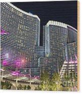 Aria Light - Aria Resort And Casino At Citycenter In Las Vegas Wood Print