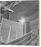 Aria Sun - Aria Resort And Casino At Citycenter In Las Vegas Wood Print