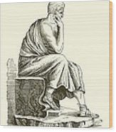 Aristotle Wood Print