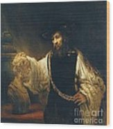 Aristotle With Bust Of Homer Wood Print