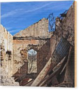 Arivaca Ruins Wood Print