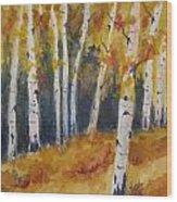 Arizona Aspens Wood Print