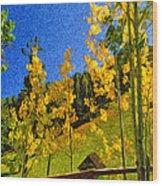 Arizona Autumn Ver 2 Wood Print