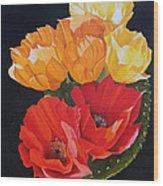 Arizona Blossoms - Prickly Pear Wood Print