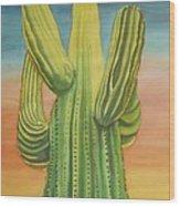 Arizona Cactus Wood Print