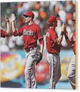 Arizona Diamondbacks V San Francisco Wood Print
