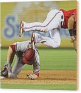 Arizona Diamondbacks V Texas Rangers Wood Print