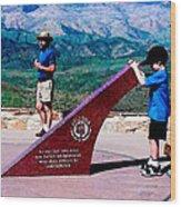 Arizona Highway Patrol Memorial Wood Print