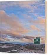 Arizona Highway Sunset Wood Print by Anthony Citro