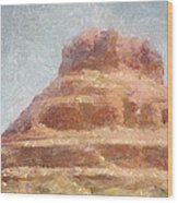 Arizona Mesa Wood Print