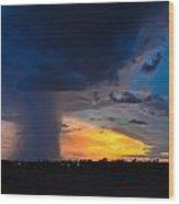 Arizona Monsoon Wood Print