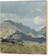 Arizona Mountains Wood Print