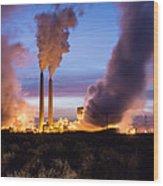 Arizona Power Plant Wood Print