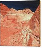 Arizona Sandstone Waves And Lines Wood Print