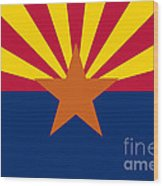Arizona State Flag Authentic Color And Scale Version Wood Print