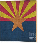 Arizona State Flag Wood Print by Pixel Chimp