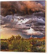Arizona Sunset 5 Wood Print