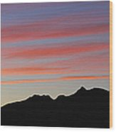 Arizona Sunset At Mt Ord Wood Print