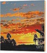 Beautiful Arizona Sunset Wood Print