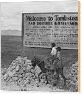 Arizona Tombstone, 1937 Wood Print